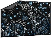 Klebefieber Fußmatte Blumenmuster mit Paisley und Schmetterlinge B x H: 70cm x 50cm