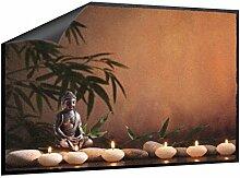 Klebefieber Fußmatte Buddha im Kerzenschein B x