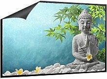 Klebefieber Fußmatte Buddha mit Jasminblüten B x H: 70cm x 50cm