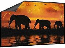Klebefieber Fußmatte Elefantenfamilie B x H: 70cm