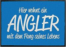 Klebefieber Fußmatte Fang seines Lebens B x H: