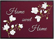 Klebefieber Fußmatte Home sweet Home Magnolie B x H: 85cm x 60cm
