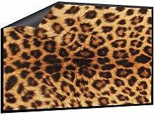 Klebefieber Fußmatte Leopardenfell B x H: 70cm x 50cm