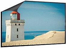 Klebefieber Fußmatte Leuchtturm am Strand B x H: 70cm x 50cm