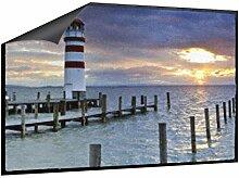 Klebefieber Fußmatte Leuchtturm im Wasser B x H: