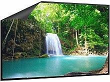 Klebefieber Fußmatte Oase mit Wasserfall B x H: 70cm x 50cm