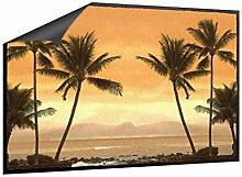 Klebefieber Fußmatte Palmen im Abendrot B x H: 70cm x 50cm