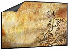Klebefieber Fußmatte Papyrus mit Blattornamenten B x H: 85cm x 60cm