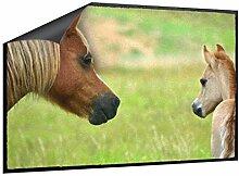 Klebefieber Fußmatte Pony mit Fohlen B x H: 70cm x 50cm