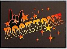 Klebefieber Fußmatte Rockzone B x H: 70cm x 50cm