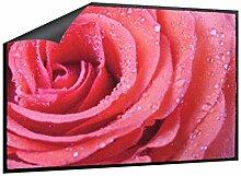 Klebefieber Fußmatte Rose mit Tautropfen B x H: 85cm x 60cm