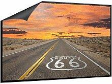 Klebefieber Fußmatte Route 66 B x H: 70cm x 50cm