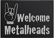 Klebefieber Fußmatte Welcome Metalheads B x H:
