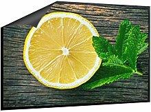 Klebefieber Fußmatte Zitrone mit Minze B x H: 70cm x 50cm
