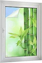 Klebefieber Sichtschutz Bambus mit Blättchen B x H: 60cm x 90cm