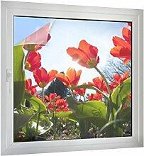 Klebefieber Sichtschutz Blumenbeet B x H: 80cm x 80cm
