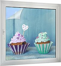 Klebefieber Sichtschutz Cupcakes B x H: 40cm x 40cm