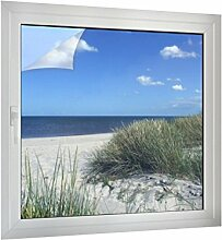 Klebefieber Sichtschutz Ostseestrand B x H: 70cm x 70cm