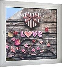 Klebefieber Sichtschutz Valentinstag B x H: 40cm x