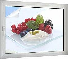 Klebefieber Sichtschutz Yoghurt mit Früchten B x H: 120cm x 90cm