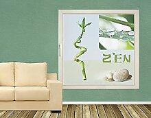Klebefieber Sichtschutz Zen B x H: 80cm x 80cm