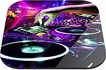 Klebefieber Untersetzer DJ Pult B x H: 10cm x 10cm - 2er Pack