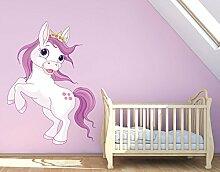 Klebefieber Wandsticker Pony mit Krone B x H: 90cm