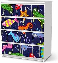 Klebefolie für IKEA Malm 4 Schubladen   Kindermöbel Möbeldekor Klebefolie Sticker Aufkleber   Ideen für IKEA Möbel für Kinder Kinderzimmertapete   Kids Kinder Underwater Life