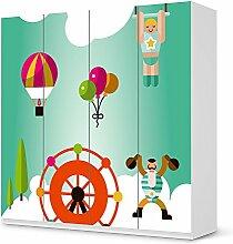 Klebefolie für IKEA PaxSchrank 201 cm Höhe - 4 Türen | Kinderzimmer Möbelsticker Klebesticker Aufkleber Folie | Einrichtungsideen IKEA Möbelfolie Kinder Kinderzimmertapete | Kids Kinder Rummelland