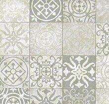 Klebefolie - Möbelfolie Antique Design grau - 45
