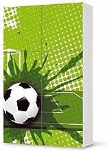 Klebefolie Tapete Folie für IKEA Besta Schrank Hochkant 4 Türen (2+2) | Möbelfolie Kinderzimmer Dekoration Möbeltattoo | Dekorationsideen Kinderzimmer Möbel Wandtattoo | Kids Kinder Goal