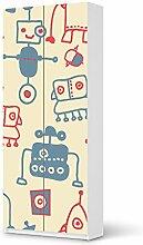 Klebefolie Tapete Folie für IKEA PaxSchrank 236 cm Höhe - 2 Türen | Aufkleber Möbel Kleinkind Möbel-Folie | Ideen für Kinderzimmer Möbel Walltattoo | Kids Kinder Crazy Robots