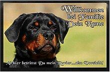 Klebespatz® Fußmatte Rottweiler 04 mit Namen