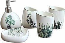 KLEDDP Badaccessoires-Set Keramik
