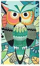 KLEEN-TEX Teppich Abstract Owl 70cm x 120cm