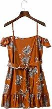 Kleid Damen Floral Sommer Urlaub Baumwolle