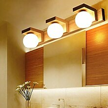 Kleider Tischlampe WC Badezimmer Nordic Stil Massivholz Spiegel Vorderwand Lampe LED Bad Schrank Spiegel Scheinwerfer ( Farbe : 54*11*9cm )