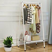 Kleiderablage Eisen Landing Garderobe, Schlafzimmer einfache Kleiderbügel kreative einfache moderne Kleiderbügel Boden Regal ( Farbe : A , größe : 63*38*126CM )