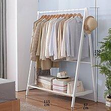 Kleiderablage Home Massivholz Kleiderständer, Stehend Mantel Hut Rack Kleiderbügel Zusammenklappbaren Regal Bodenständer ( größe : 115*57*150CM )