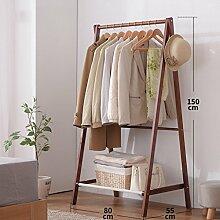 Kleiderablage Home Massivholz Kleiderständer, Stehend Mantel Hut Rack Kleiderbügel Zusammenklappbaren Regal Bodenständer ( größe : 80*55*150CM )