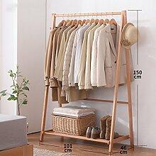 Kleiderablage Massivholz Kleiderständer, Stehend Mantel Hut Rack Kleiderbügel zusammenklappbar Regal Bodenständer ( größe : 101*46*150CM )