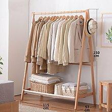 Kleiderablage Massivholz Kleiderständer, Stehend Mantel Hut Rack Kleiderbügel zusammenklappbar Regal Bodenständer ( größe : 115*57*150CM )