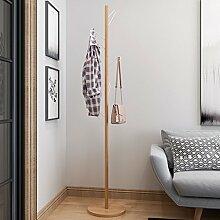 Kleiderablage Massivholz und Eisen Garderobe, Stehend Mantel Hut Rack Kleiderbügel zusammenklappbar Regal Bodenständer ( Farbe : B , größe : 180*34CM )