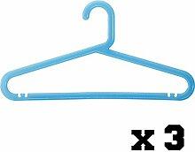 Kleiderbügel–Kunststoff–5Stück–blau