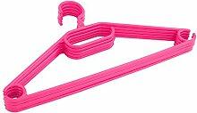Kleiderbügel 100 Stück Wäschebügel Bügel Kunststoff antirutsch rosa