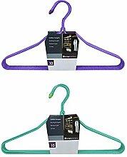 Kleiderbügel (20 St.) aus Draht in Grün und Violett Größe 6 Sets