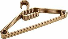 Kleiderbügel 50 Stück Wäschebügel Bügel Kunststoff antirutsch gold