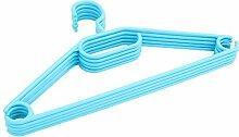 Kleiderbügel 50 Stück Wäschebügel Bügel Kunststoff antirutsch blau