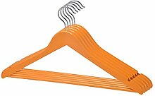 Kleiderbügel 5er Set Orange Landhaus Holzkleiderbügel