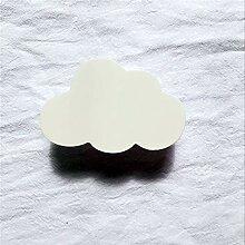 Kleiderbügel aus Holz, Cartoon-Wolke, Holzhaken,
